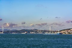 Bosphorus i statki Zdjęcia Stock