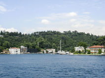 Bosphorus Istanbuł Dziejowy budynek Zdjęcie Royalty Free