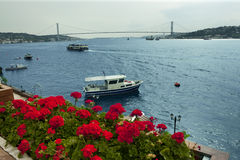 Bosphorus Istanbul. A panorama view from Asian side to beautiful Bosphorus Royalty Free Stock Photo