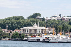 Bosphorus Istanbul Harbour Topkapi Palace Royalty Free Stock Photo