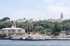 Bosphorus Istanbul Harbour Royalty Free Stock Photography