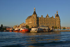 Bosphorus and Istanbul Haydarpasa Terminal Royalty Free Stock Photo