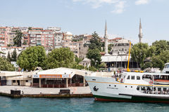 Bosphorus Istanbul Historical Buidlings Royalty Free Stock Photos