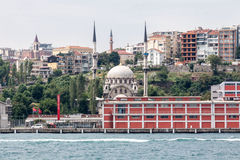 Bosphorus Istanbul Historical Buidlings. The historical buildings, a mosque and the waters of the Bosphorus, Istanbul, Turkey Stock Photos