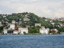 Bosphorus Istanbul historisk byggnad Royaltyfri Foto