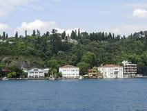 Bosphorus Istanbul historisk byggnad Arkivfoto