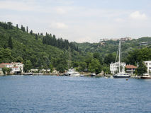 Bosphorus Istanbul historisk byggnad Royaltyfria Foton