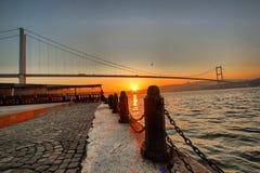 Bosphorus istanbul morgon fotografering för bildbyråer