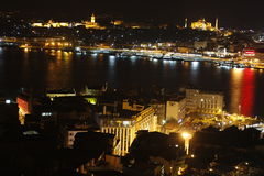 Bosphorus, Istanbul nightview stock photography