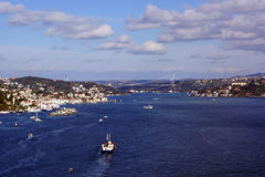 Bosphorus and İstanbul Panorama Royalty Free Stock Image