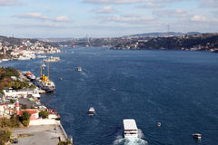 Bosphorus and Ä°stanbul Panorama Stock Image