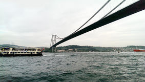 Bosphorus, Istanbul, Turkey. Bosphorus in a cloudy day , Istanbul, Turkey royalty free stock photos