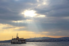 Bosphorus in Istanbul,Turkey. Royalty Free Stock Images