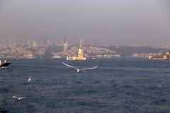 The Bosphorus, Istanbul stock image