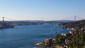 Bosphorus krajobraz Obraz Royalty Free