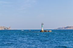Bosphorus lighthouse Royalty Free Stock Photos