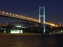 Bosphorus nachts Stockbild