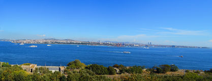 Bosphorus panorama Obrazy Royalty Free