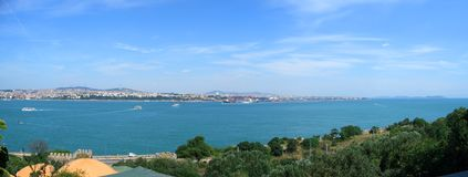 Bosphorus panoramic view from Topkapi Palace Royalty Free Stock Photo