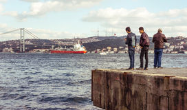 Bosphorus quay Royalty Free Stock Photo