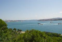 Bosphorus raksträcka Royaltyfri Foto