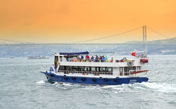 Bosphorus resa royaltyfri bild