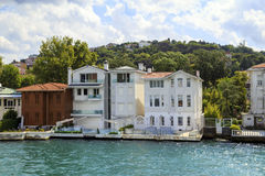 Bosphorus residential houses,Istanbul,Turkey. Stock Photos