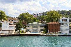 Bosphorus residential houses,Istanbul,Turkey. Royalty Free Stock Photography