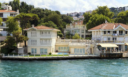 Bosphorus residential houses,Istanbul,Turkey. Stock Images