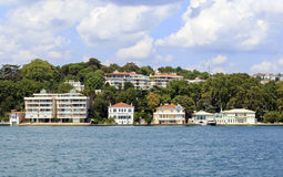 Bosphorus residential houses,Istanbul,Turkey. Stock Image