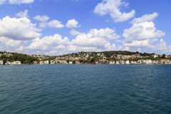 Bosphorus residential houses,Istanbul,Turkey. Royalty Free Stock Photos
