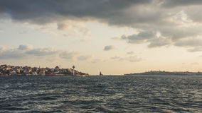 Bosphorus river cityscape in Istanbul. Royalty Free Stock Images