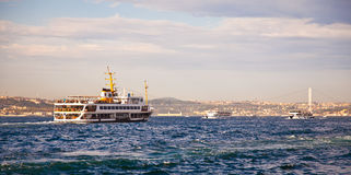 Bosphorus with sea traffic 2 Stock Image