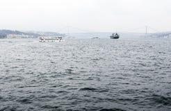 Bosphorus ship boat bridge Stock Images
