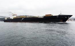 Bosphorus ship bridge Stock Image