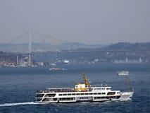Bosphorus ships. View of Bosphorus. Istanbul, Turkey Stock Images