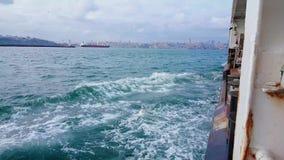 Bosphorus sikt från färjan lager videofilmer