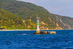 Bosphorus small lighthouse Royalty Free Stock Images
