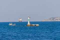 Bosphorus small lighthouse Royalty Free Stock Photography