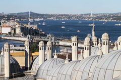 Bosphorus-Straße in Istanbul-Stadt Lizenzfreie Stockfotografie
