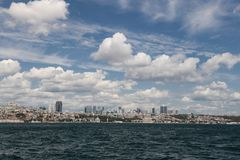 Besiktas district in Istanbul city Royalty Free Stock Photo