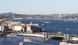 Bosphorus Strait in Istanbul City Royalty Free Stock Photos