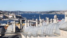 Bosphorus Strait in Istanbul City Stock Images