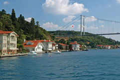 Bosphorus strait in istanbul, turkey Royalty Free Stock Photo
