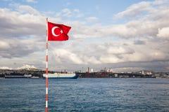 The Bosphorus Strait in Istanbul Turkey Royalty Free Stock Photo