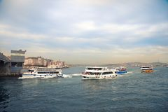 The Bosphorus Strait royalty free stock photo