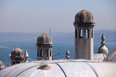 The Bosphorus and Suleymaniye Mosque, Istanbul Stock Photography