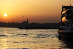 Bosphorus Sunset Royalty Free Stock Image