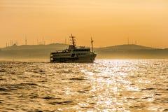 Bosphorus on sunset Stock Photos