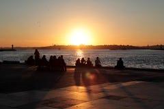 Istanbul / Turkey. Bosphorus at sunset - Istanbul/Turkey stock photography